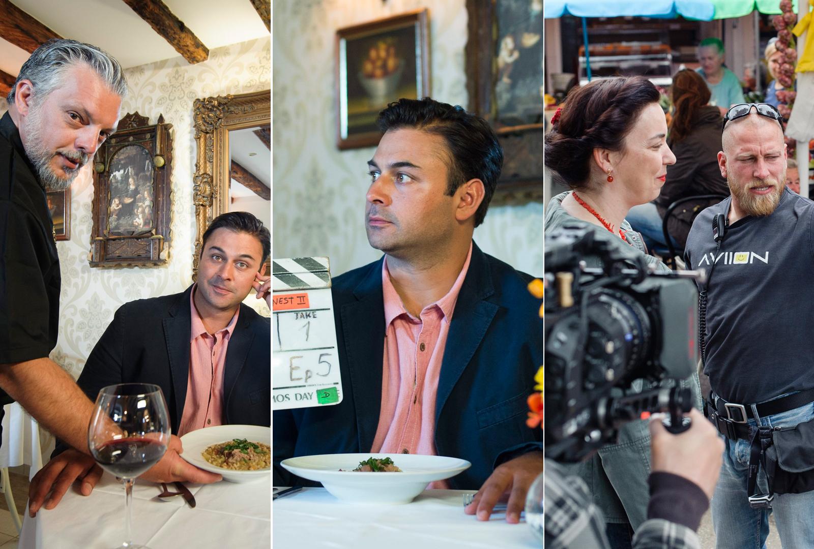 Snimanje emisije Croatia's Finest u Trogiru s Dhruvom Bakerom, pobjednikom britanskog Masterchefa u svibnju 2016.