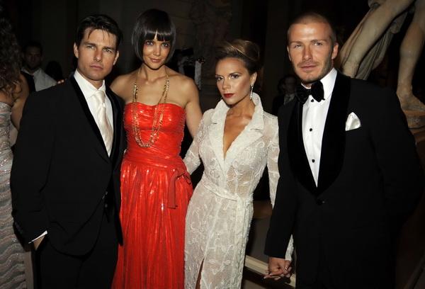 Tom Cruise, Katie Holmes, Victoria Beckham and David Beckham - 5 May 2008 - New York, NY -