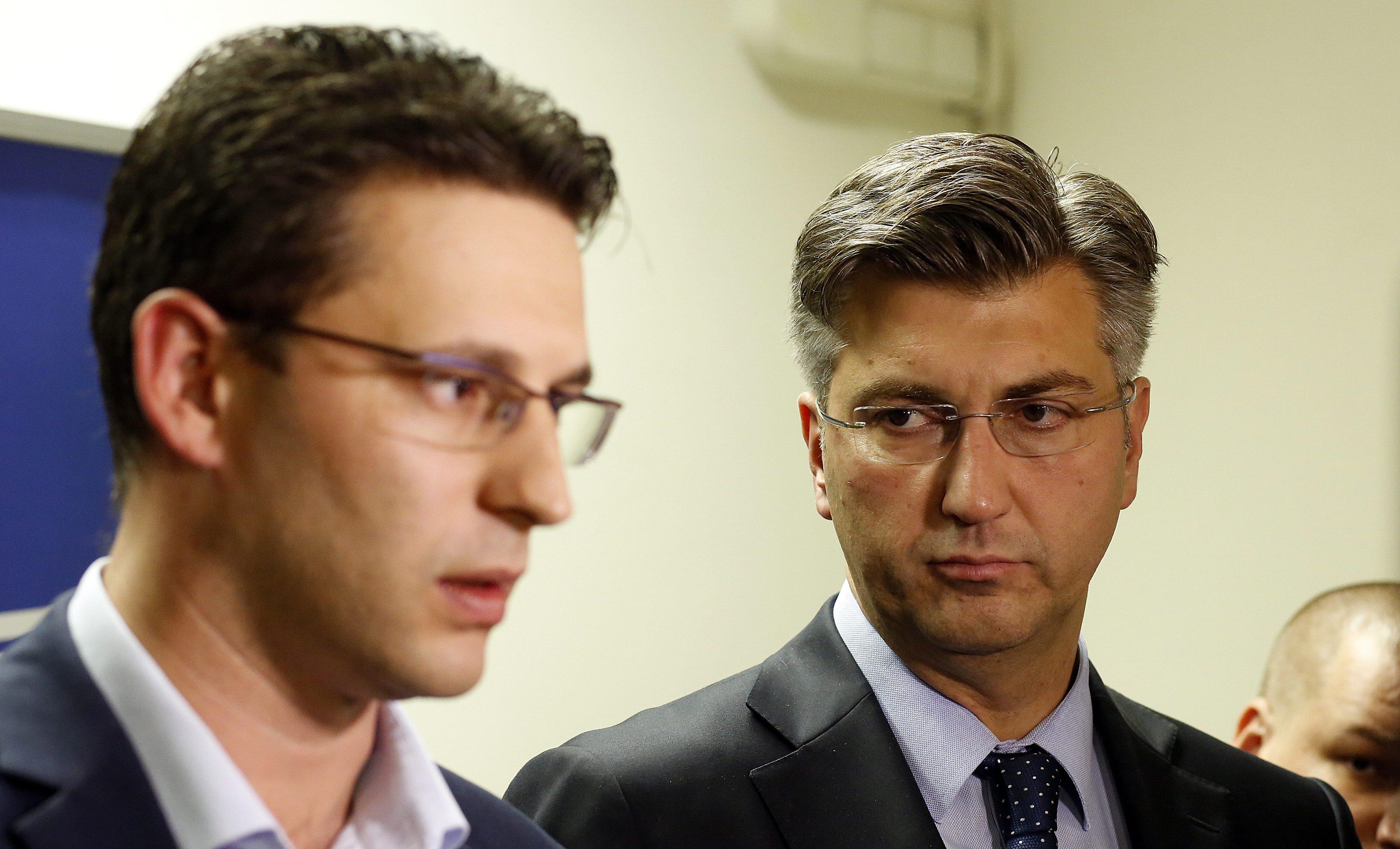 Božo Petrov i Andrej Plenković