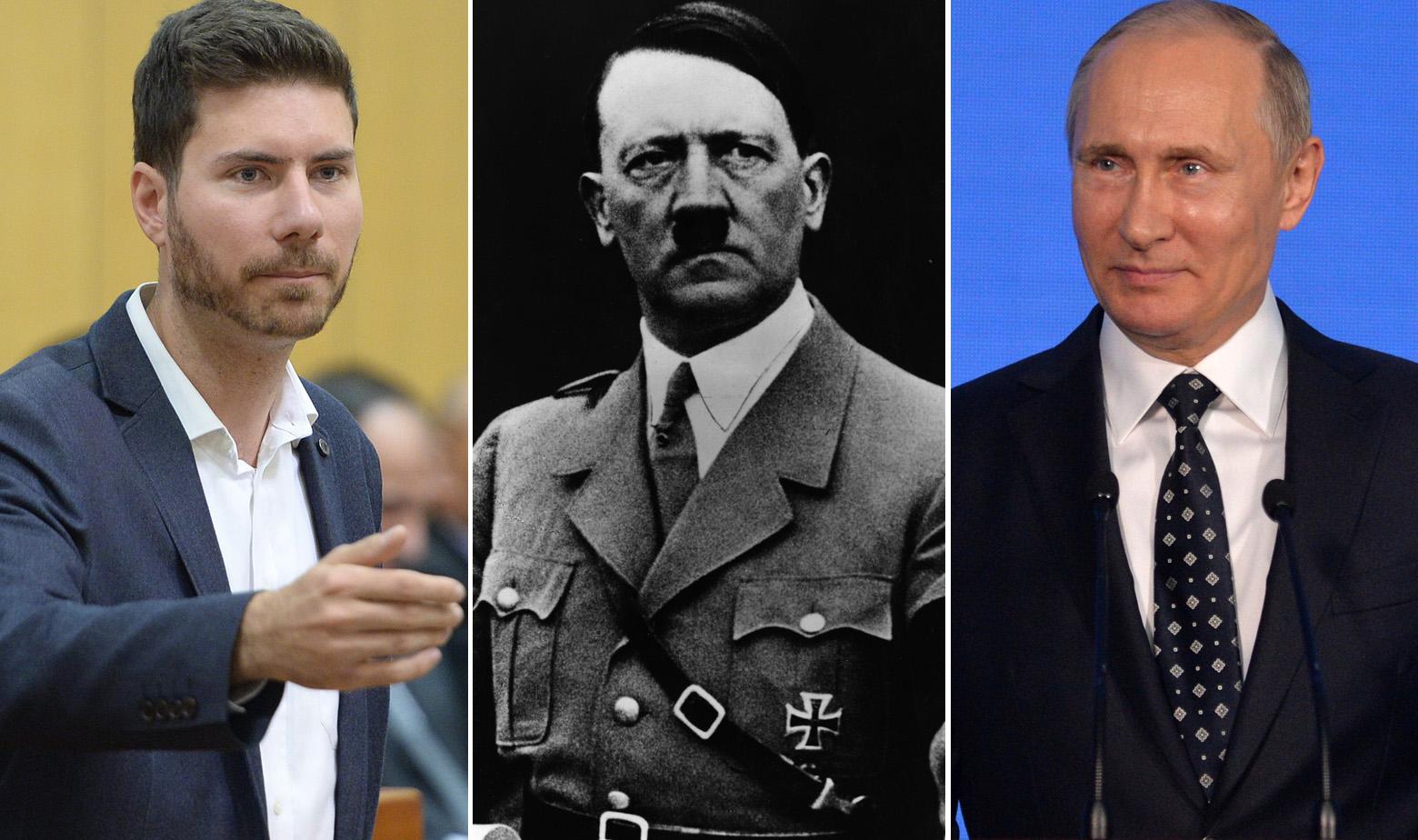 Ivan Pernar, Adolf Hitler i Vladimir Putin