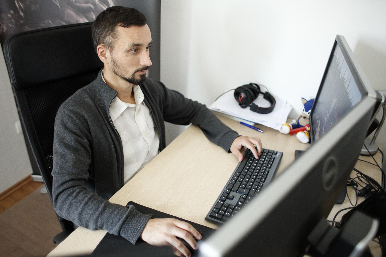 Zagreb, 300916. Tvrtka Gamepires smjestena je u Medarskoj ulici i bavi se izradom racunalnih video igara. Na fotografiji: x. Foto:  / CROPIX