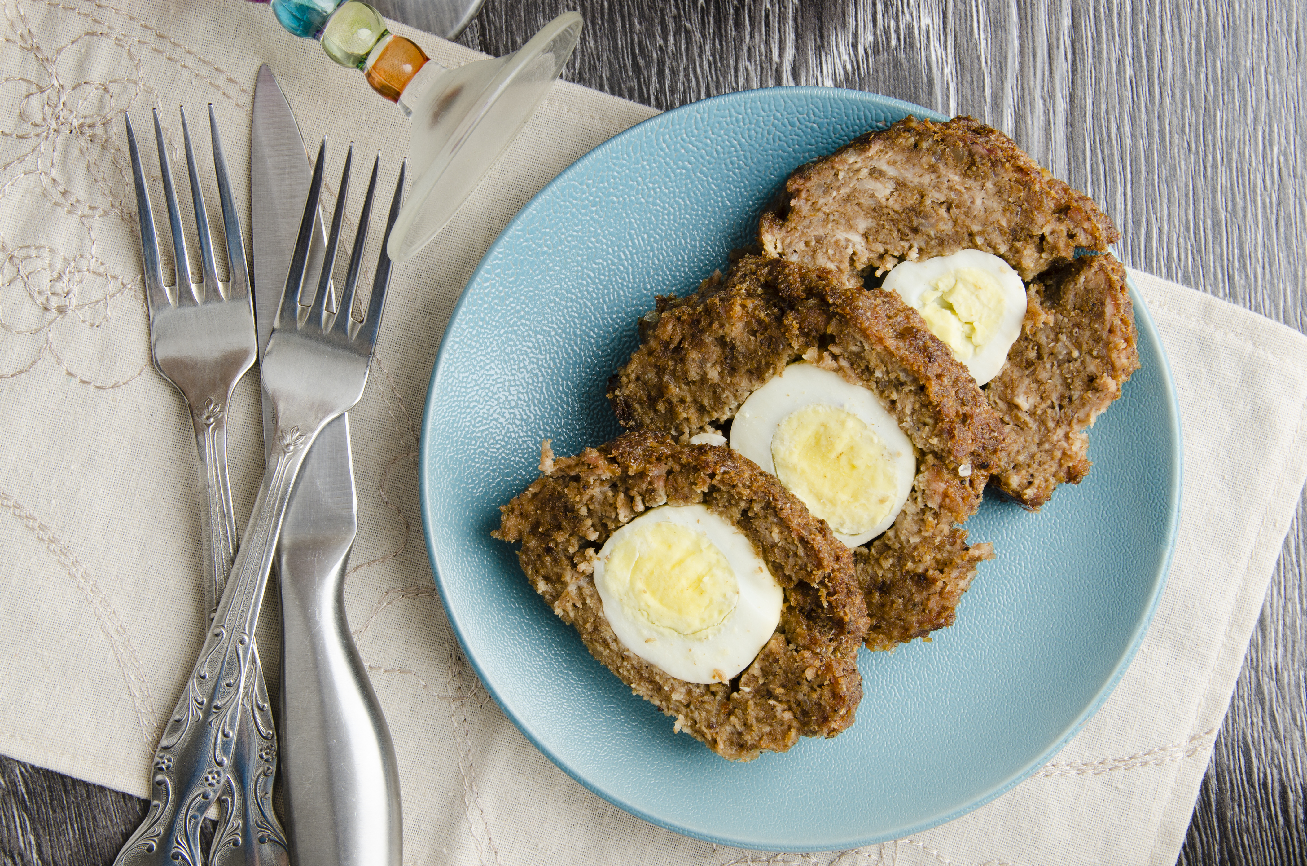 meatloaf,egg, food