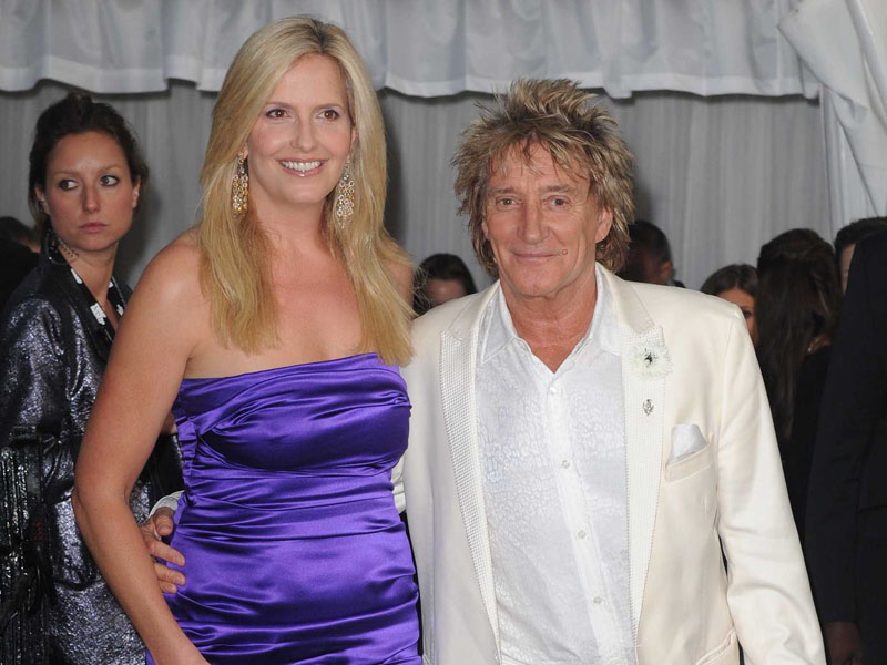 Rod Stewart and Penny Lancaster arriving at the 2012 Glamour Women of the Year Awards in Berkeley Square, London on May 29, 2012/Credit:HUSSEIN ZAK/SIPA/1205300837