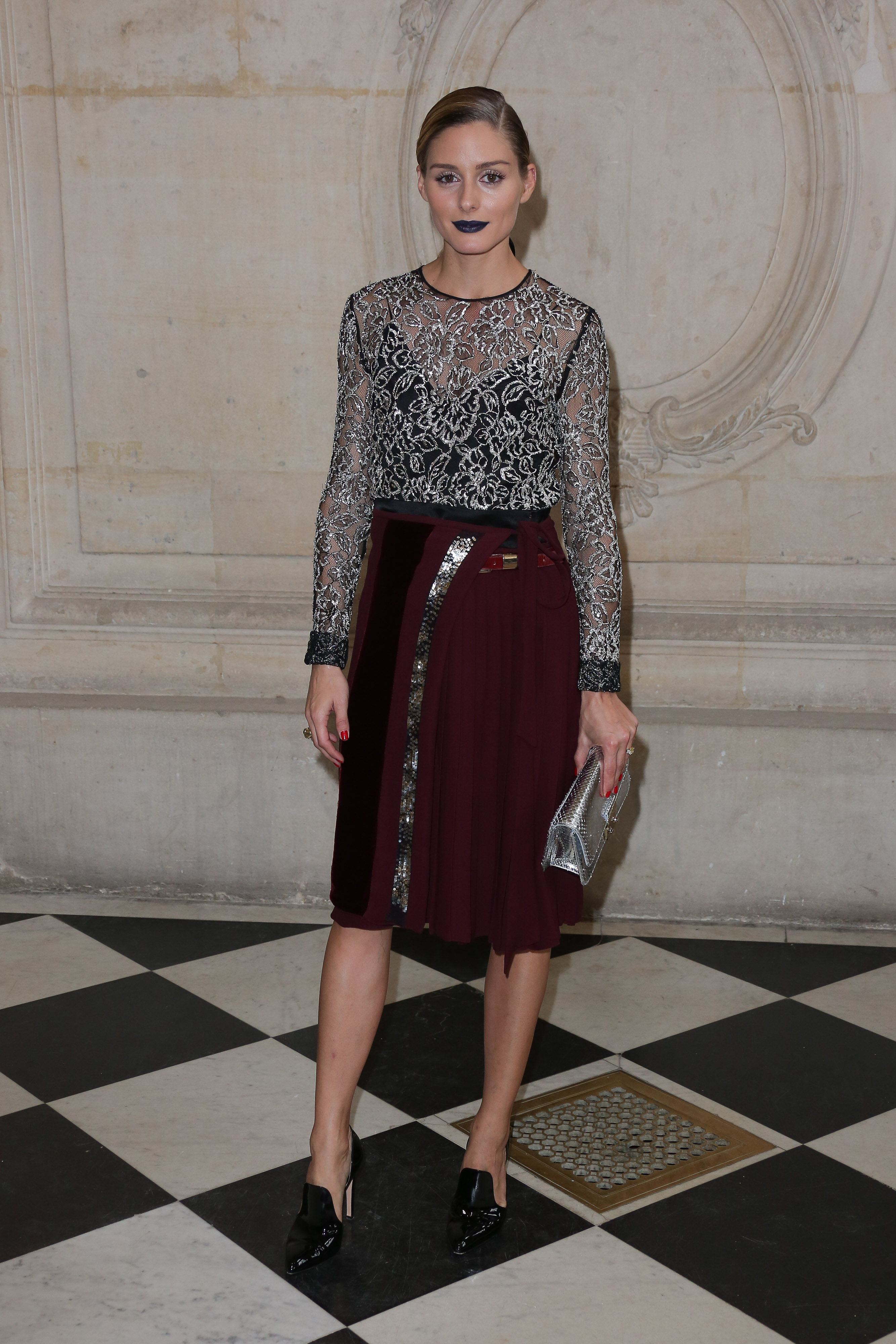 Celebrities are seen attending the Christian Dior fashion show during Paris Fashion Week in Paris, France.  <P> Pictured: Olivia Palermo <B>Ref: SPL1366222  301016  </B><BR/> Picture by: Splash News<BR/> </P><P> <B>Splash News and Pictures</B><BR/> Los Angeles:310-821-2666<BR/> New York:212-619-2666<BR/> London:870-934-2666<BR/> <span id=
