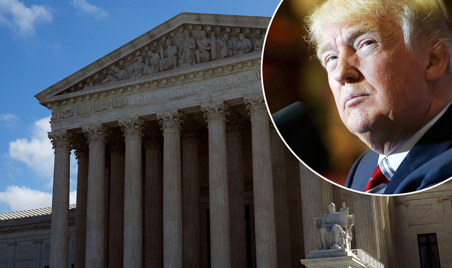 Zgrada Vrhovnog suda SAD-a i Donald Trump