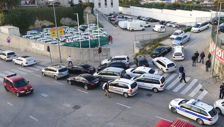 Taksi blokada Split