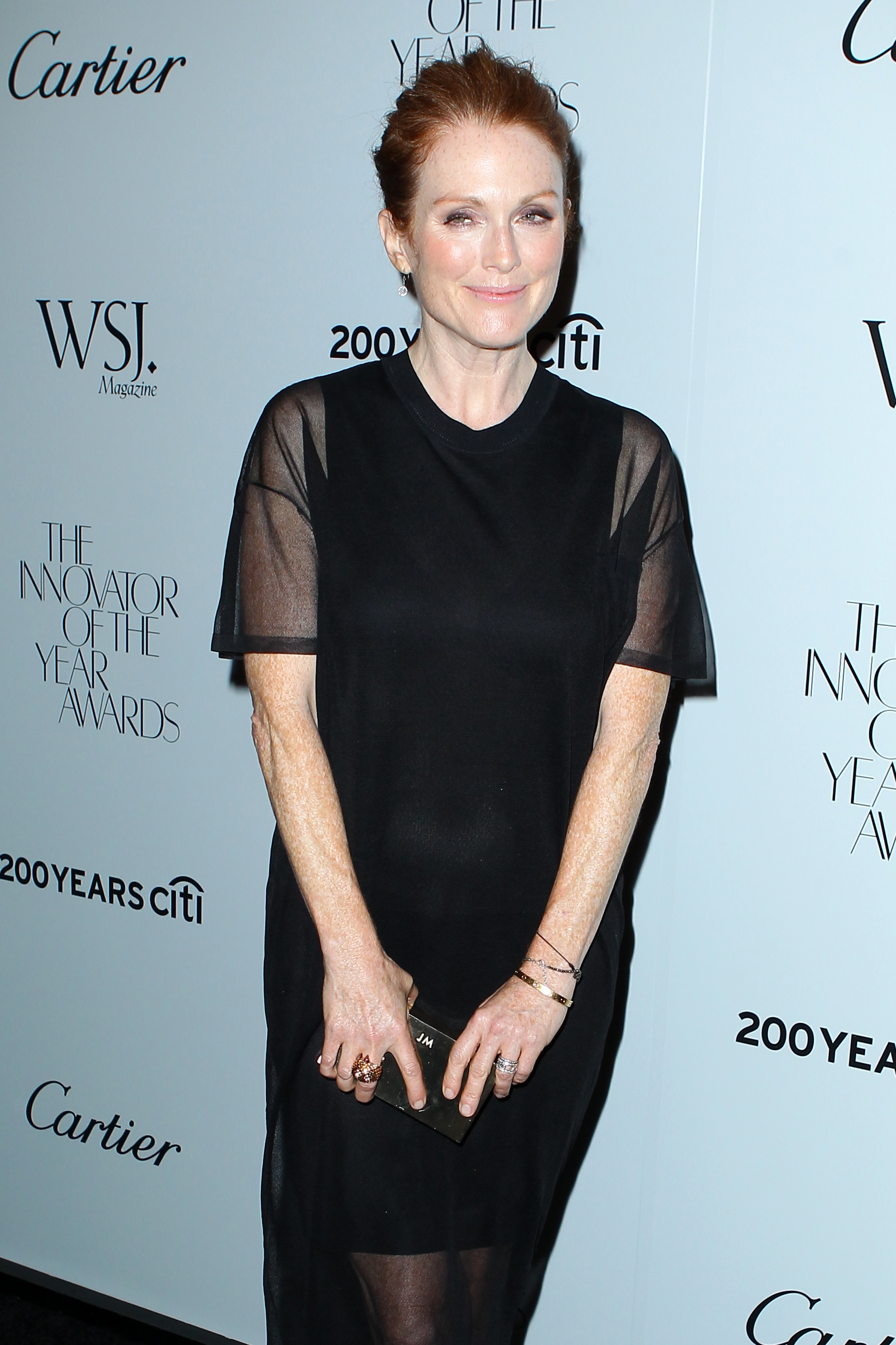 Actress Julianne Moore arrives at the Wall Street Journal Magazine 2012 Innovator of the Year Awards, presented by Cartier and Citi at MOMA in New York City. <P> Pictured: Julianne Moore <P> <B>Ref: SPL449086  181012  </B><BR/> Picture by: Christopher Peterson/Splash News<BR/> </P><P> <B>Splash News and Pictures</B><BR/> Los Angeles:310-821-2666<BR/> New York:212-619-2666<BR/> London:870-934-2666<BR/> <span id=