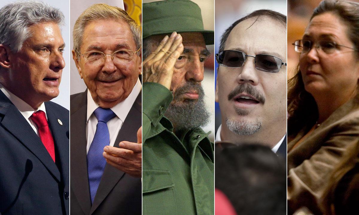 Miguel Mario Diaz Bermudez, Raul Castro, Fidel Castro, Alejandro Castro, Deborah Castro