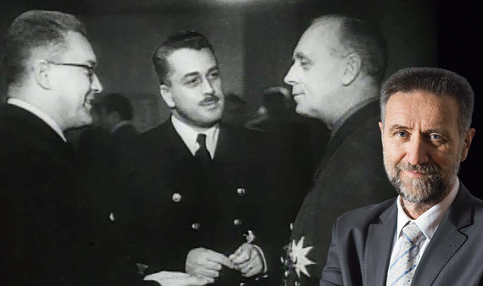 Julije Makanec na slici sasvim lijevo,  desno je njemački ministar Ribentropp