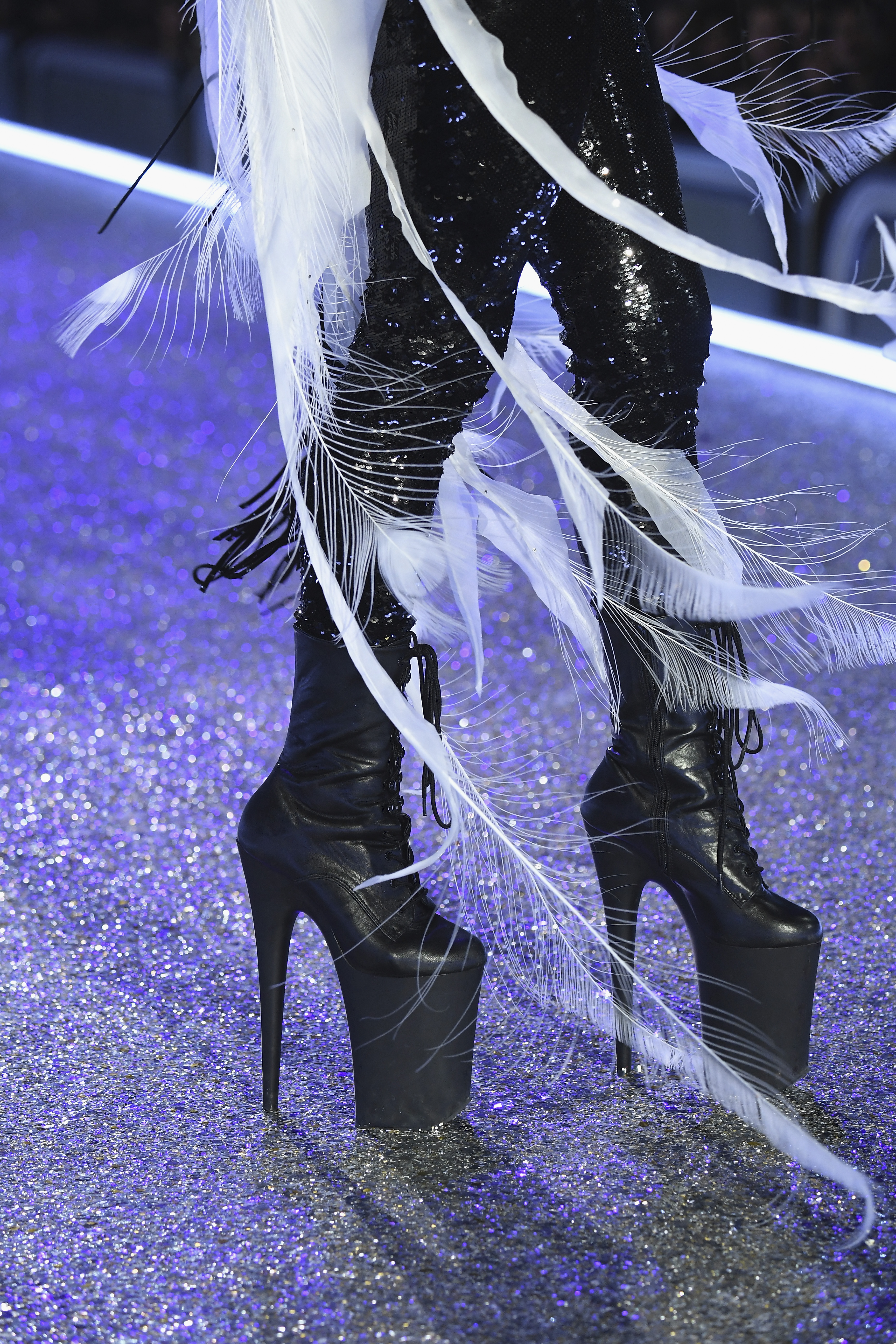 PARIS, FRANCE - NOVEMBER 30:  Lady Gaga performs during the Victoria's Secret Fashion Show on November 30, 2016 in Paris, France.  (Photo by Pascal Le Segretain/Getty Images for Victoria's Secret)