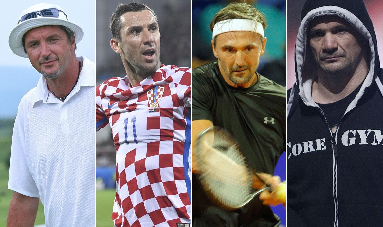Toni Kukoč, Darijo Srna, Goran Ivanišević, Mirko 'Cro Cop' Filipović