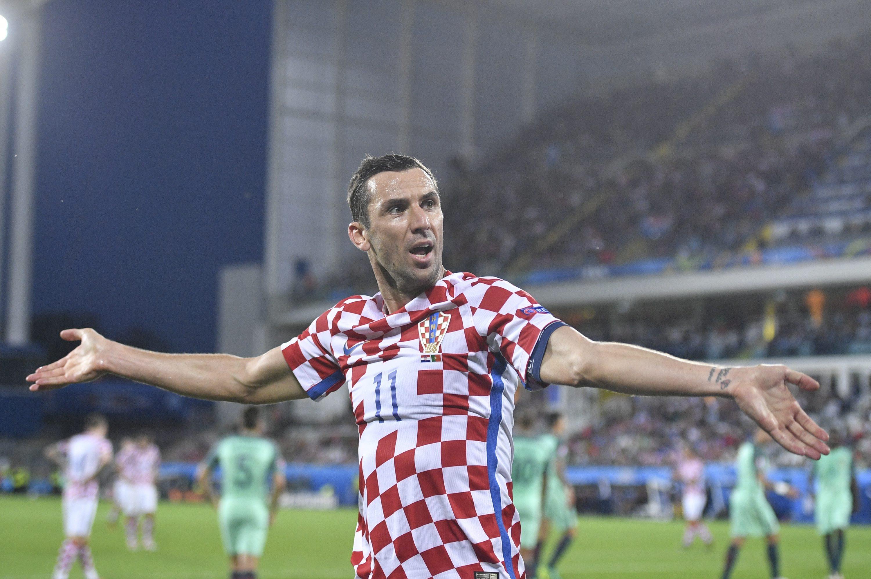 Lens, Francuska, 250616.  Stadion Bollaert-Delelis. Utakmica osmine finala UEFA Euro 2016 izmedju Hrvatska - Portugal.  Na fotografiji: Darijo Srna. Foto: Boris Kovacev / CROPIX