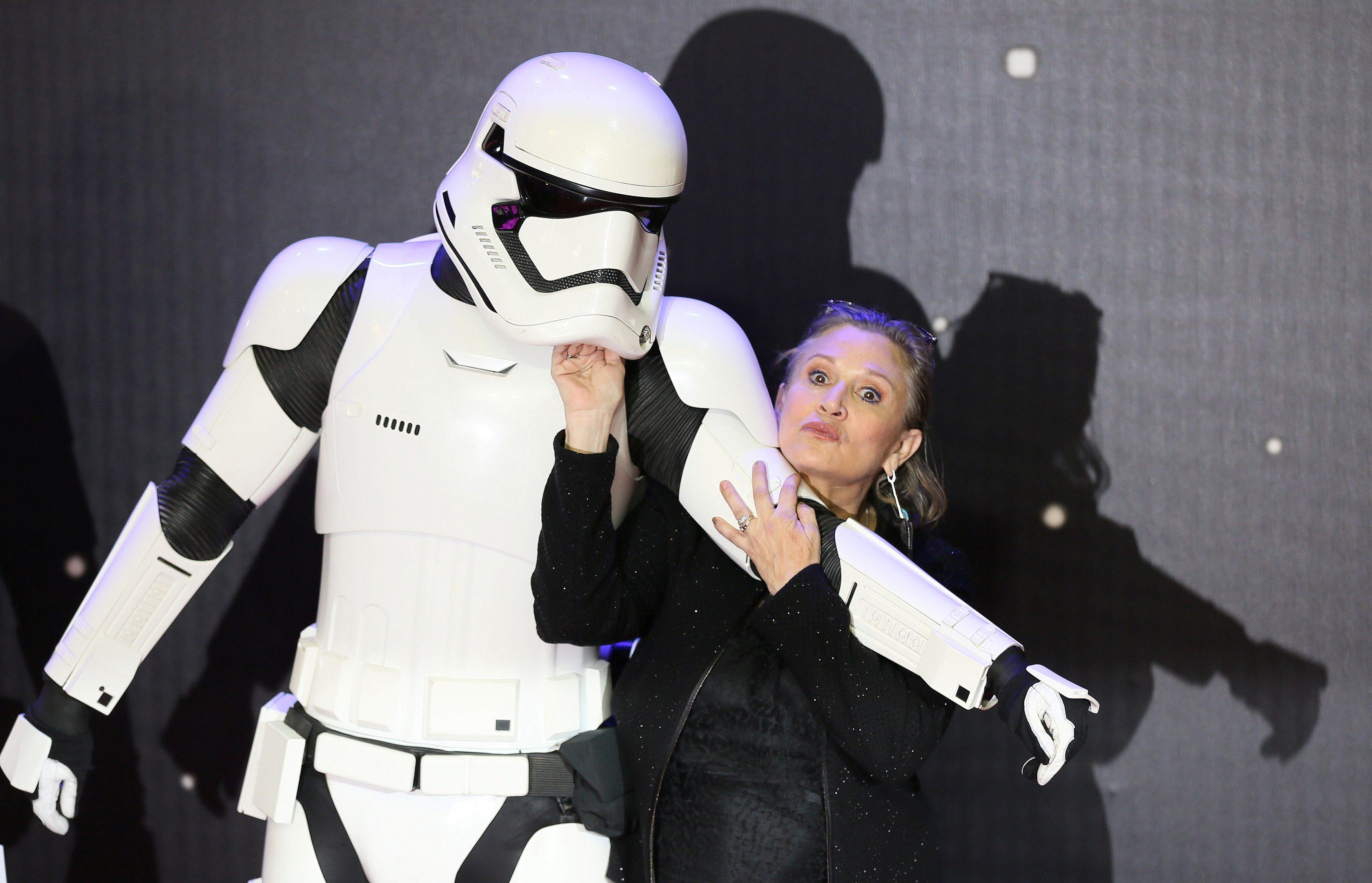 Carrie Fisher uoči premijere Ratova zvijezda: 'Sila se budi' u Londonu