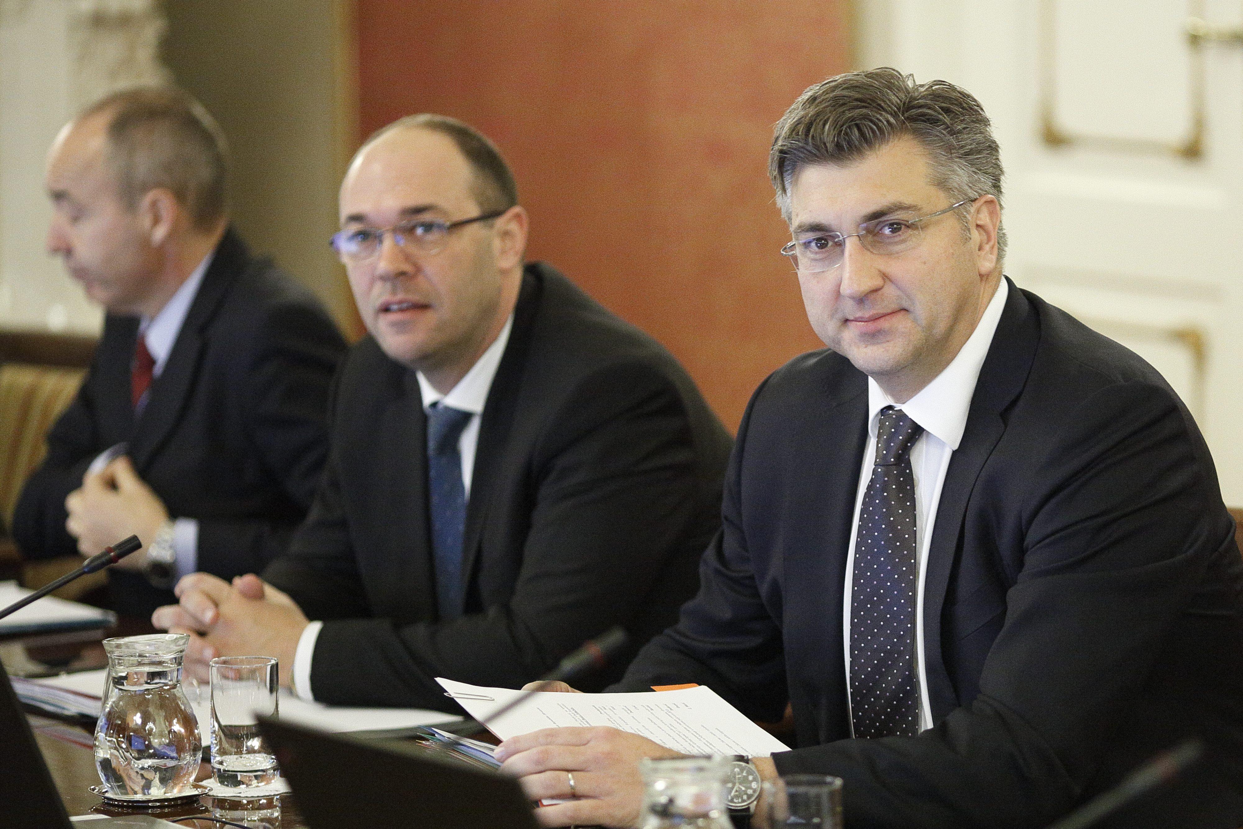 Damir Krstičević, Davor Ivo Stier i Andrej Plenković