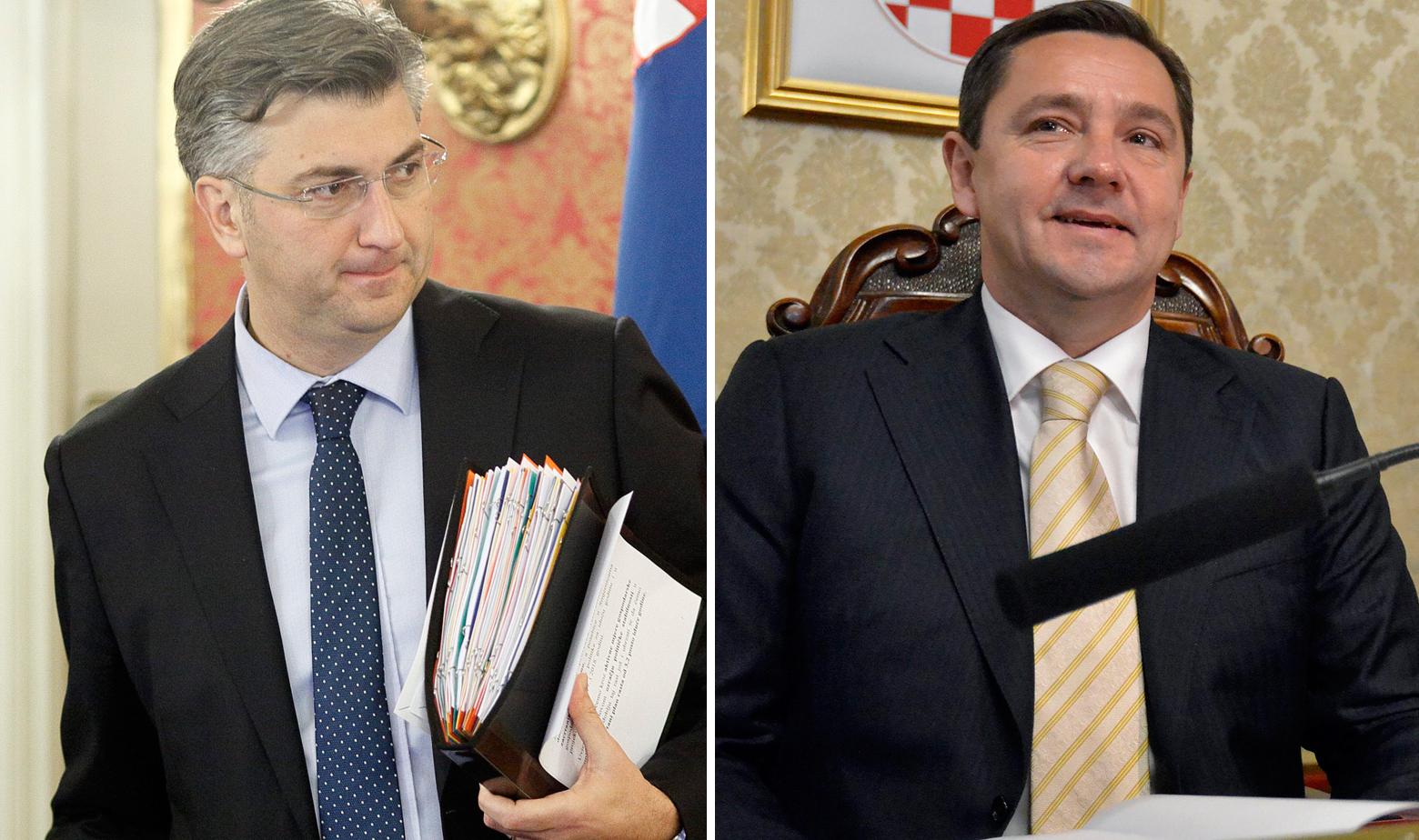 Andrej Plenković i Andrija Mikulić