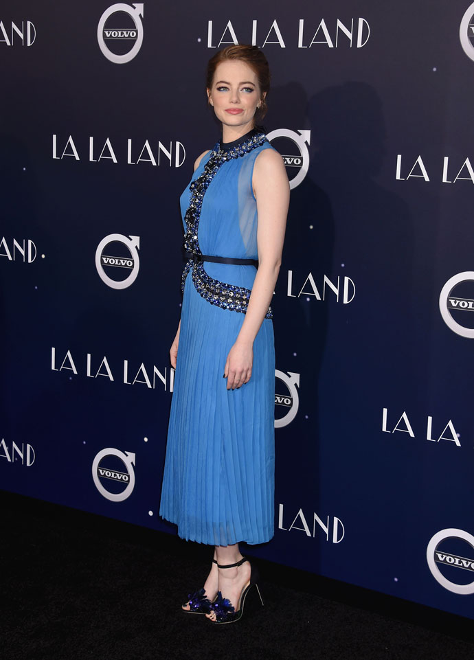 WESTWOOD, CA - DECEMBER 06: Actress Emma Stone arrives at the Premiere Of Lionsgate's 'La La Land' at Mann Village Theatre on December 6, 2016 in Westwood, California., Image: 307896437, License: Rights-managed, Restrictions: , Model Release: no, Credit line: Profimedia, Capital pictures