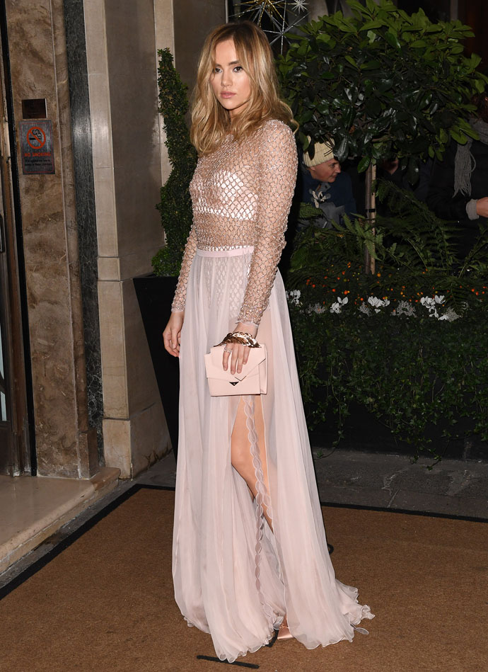 08.December.2016 - London - UK  Suki Waterhouse  Celebs pictured at the London Evening Standard British Film Awards at Claridges hotel in Mayfair, London., Image: 307945402, License: Rights-managed, Restrictions: PLEASE CREDIT AS PER BYLINE  *UK CLIENTS MUST CALL PRIOR TO TV OR ONLINE USAGE PLEASE TELEPHONE 0208 344 2007**, Model Release: no, Credit line: Profimedia, Xposurephotos