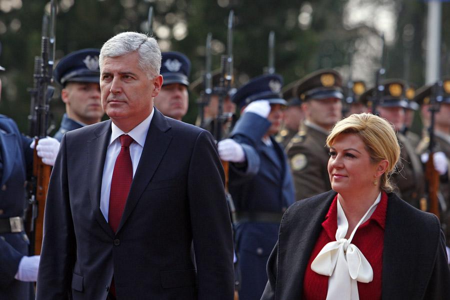 Arhivska fotografija iz 2016.: Član Predsjedništva BiH Dragan Čović i predsjednica RH Kolinda Grabar Kitarović