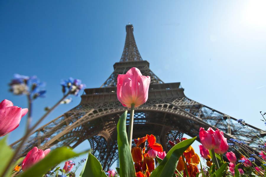 Pariz, Francuska, 020412. Proljetni ponedjeljak u Francuskoj prijestolnici sa temperaturama od +15 stupnjeva izmamili su mnogobrojne gradjane te ponajvise Turiste koji su u obilasku grada.Na slici detalj ispred Eiffelovog Tornja.Foto: Zvonimir Barisin / CROPIX