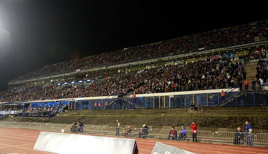 Zagreb, 211010.Stadion u Maksimiru.Utakmica 3. kola Europske lige Dinamo - Club Brugge.Na fotografiji: Zapadna tribina.Foto: Ronald Gorsic / CROPIX