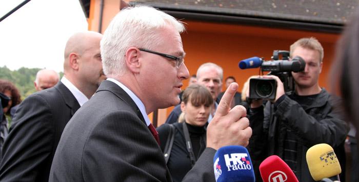 Kamanje, 100910.Predsjednik RH u Kamanju je nazocio na proslavi Dana ove opcine na samoj granici sa Slovenijom.Foto: Mario Pusic / Cropix
