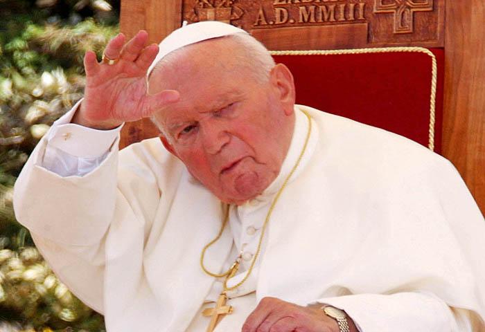 zadar, 090603forum, sv. donatdocek svetog oca papa ivan pavao drugi pozdravlja vjernikefoto: srdan vrancic-desk-