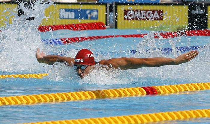 Rim, 310709. 13 Svjetsko prvenstvo prvenstvo Rim 2009.Kvalifikacijska utrka na 100 metara  butterflyNa fotografiji: Mario Todorovic.Foto: Vladimir Dugandzic / CROPIX
