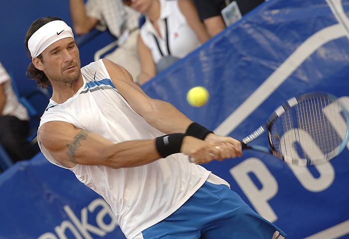 Umag, 290707.Finale ATP Umag, finale.Carlos Moya.Foto : Ronald Gorsic / CROPIX