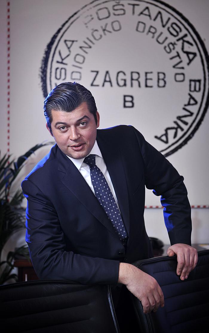 Zagreb, 250309.Hrvatska postanska banka, Jurisiceva 2.Josip Protega, predsjednik Uprave Hrvatske postanske banke (HPB).Foto: Vjekoslav Skledar / CROPIX
