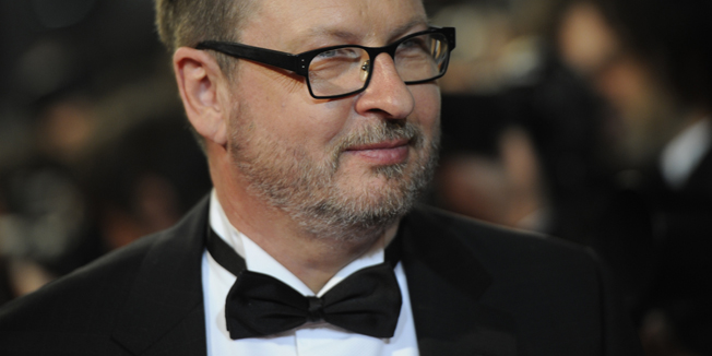 """Danish director Lars Von Trier arrives on the red carpet before the screening of """"Melancholia"""" presented in competition at the 64th Cannes Film Festival on May 18, 2011 in Cannes.        AFP PHOTO / ANNE-CHRISTINE POUJOULAT"""