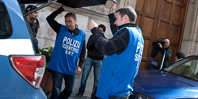 POTENZA, PZ - MARCH 30:  Forensic police return to carry out searches at the Santa Trinita Church (Saint Trinity Church) in the Elisa Claps murder investigation, on March 30, 2010 in Potenza, Italy. The body of 16-year-old Elisa Claps was found hidden in the roof of the church on March 18, 2010 following her disappearance nearly 17 years ago.  (Photo by Getty Images/Getty Images)