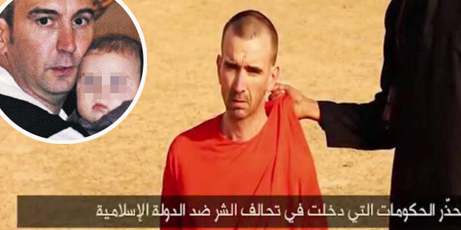 """An image grab taken from a video released by the Islamic State (IS) and identified by private terrorism monitor SITE Intelligence Group on September 2, 2014 purportedly shows footage of a masked militant in a desert landscape threatening to kill British David Cawthorne Haines.  The so-called """"Islamic State"""" released a video today showing the masked militant apparently beheading 31-year-old US freelance reporter Steven Sotloff and threatening to kill the British captive. AFP PHOTO / SITE INTELLIGENCE GROUP / HO  === RESTRICTED TO EDITORIAL USE - MANDATORY CREDIT """"AFP PHOTO / HO / SITE INTELLIGENCE GROUP    - NO MARKETING NO ADVERTISING CAMPAIGNS - DISTRIBUTED AS A SERVICE TO CLIENTS FROM ALTERNATIVE SOURCES, AFP IS NOT RESPONSIBLE FOR ANY DIGITAL ALTERATIONS TO THE PICTURE'S ==="""
