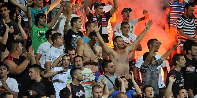 Zadar, 130713.Stadion Stanovi. 1. kolo MaxTV Prve lige izmedju NK Zadar i NK Hajduk.Na fotografiji: Torcida.Foto: Luka Gerlanc / CROPIX