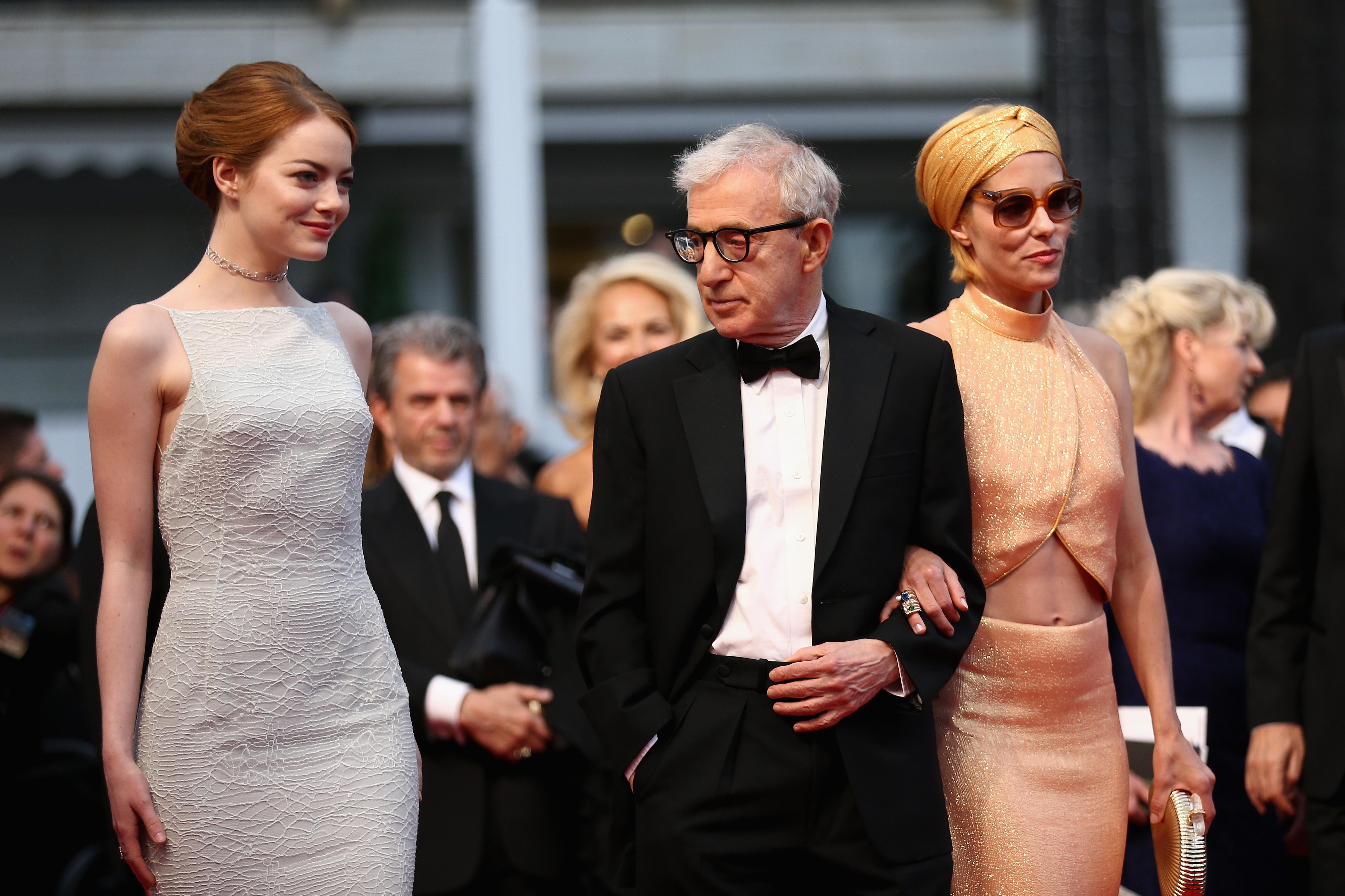 Emma Stone,Woody Allen i Parker Posey prošle godine u Cannesu