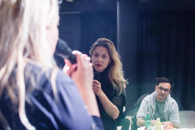 Glumica Nataša Dangubić na probi predstave