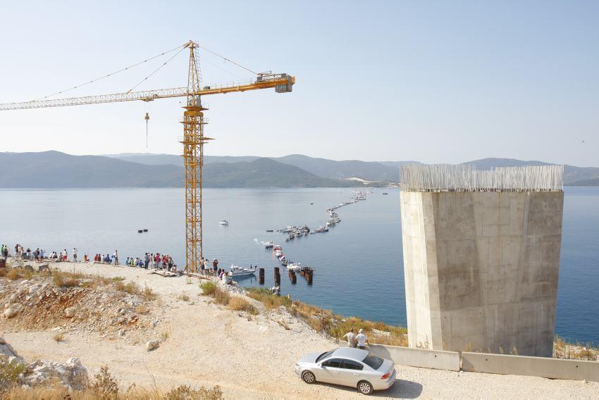 Arhivska fotografija: Trasa na kojoj je projektiran Pelješki most.