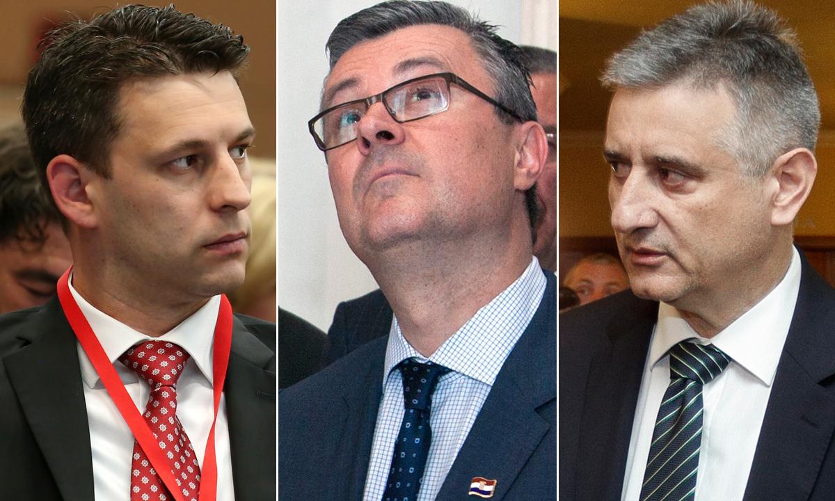 Božo Petrov, Tihomir Orešković, Tomislav Karamarko