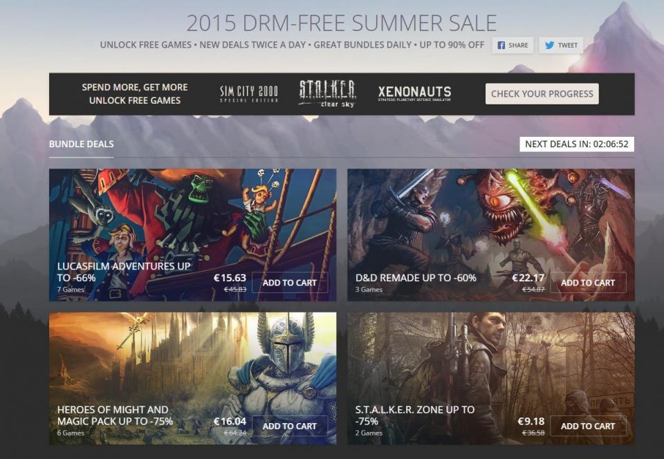 GOG ljetna rasprodaja igara je u tijeku