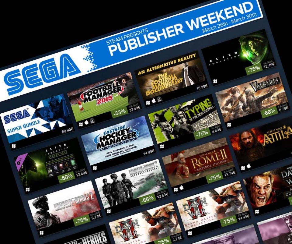 Steam i Sega imaju sniženje tijekom vikenda