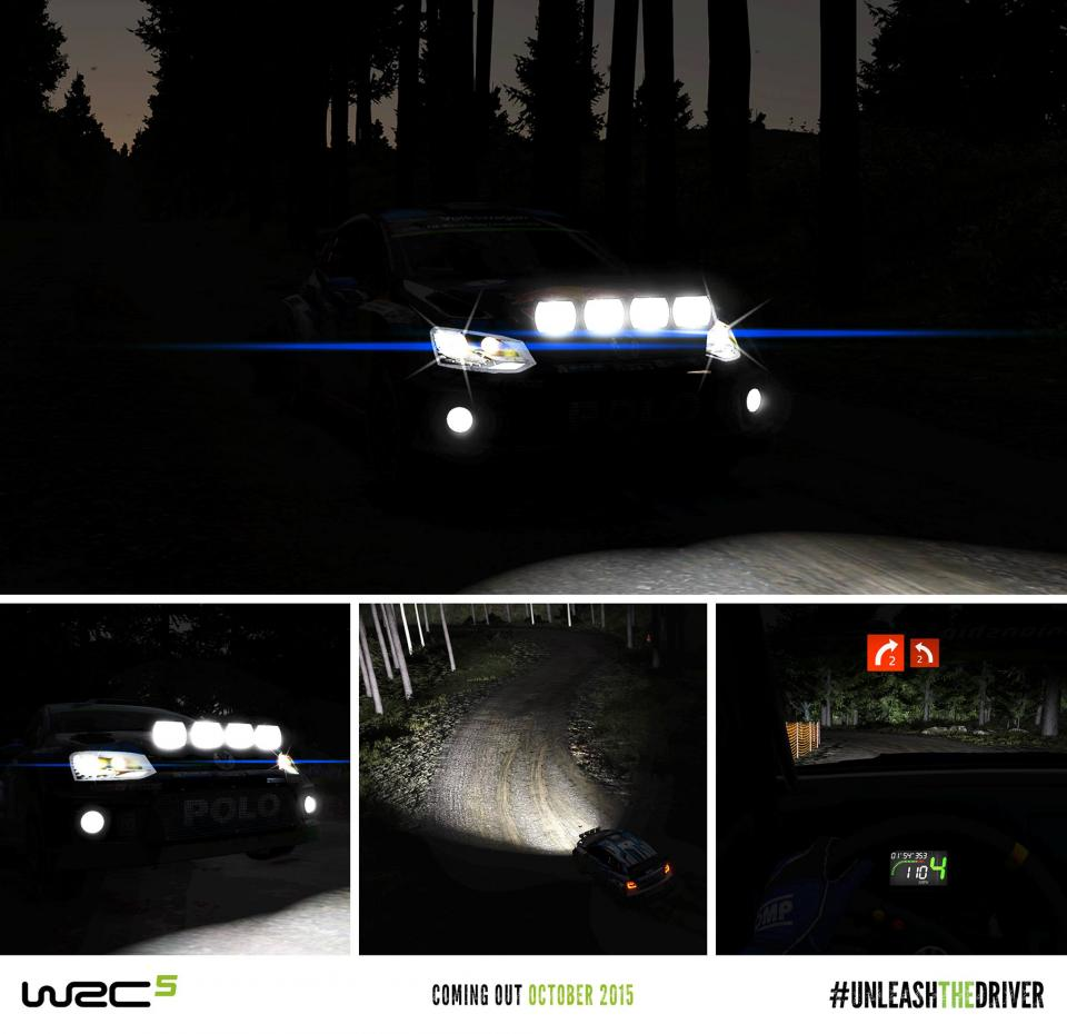 WRC 5 će vam dati priliku da vozite noćne utrke