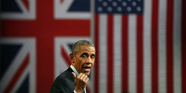 U.S. President Barrack Obama takes part in a Town Hall meeting at Lindley Hall in London, Britain, April 23, 2016. REUTERS/Stefan Wermuth