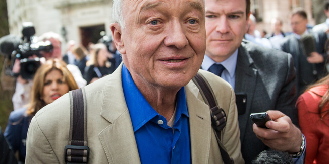 LONDON, ENGLAND - APRIL 28:  Ken Livingstone speaks leaves Milbank Studios on April 28, 2016 in London, England. Mr Livingstone has been suspended from Labour Party for comments made while defending Naz Shah, the Labour MP suspended over 'anti-Semitic' comments. (Photo by Rob Stothard/Getty Images)
