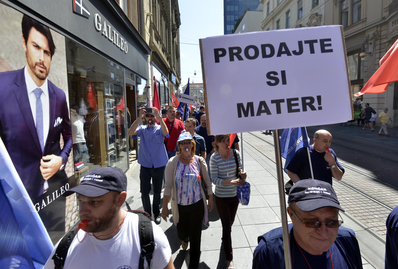 Radnici Končara prosvjedovali su protiv rasprodaje i privatizacije tvrtke Končar