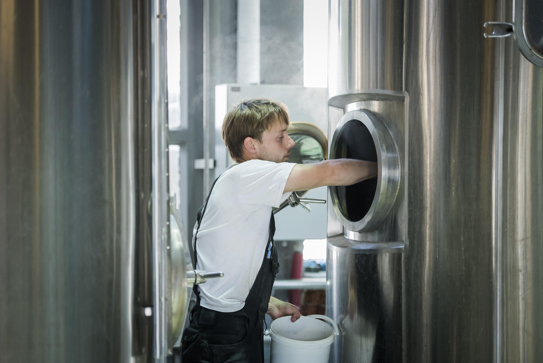 Zagreb, 080616.  Ove subote na Zitnjaku se otvara nova pivovara, The Garden Brewery, vlasnika Nick Colgana iz Velike Britanije. Glavni pivar je Nick Calder-Scholes s Novog Zelanda. Foto: Neja Markicevic / CROPIX
