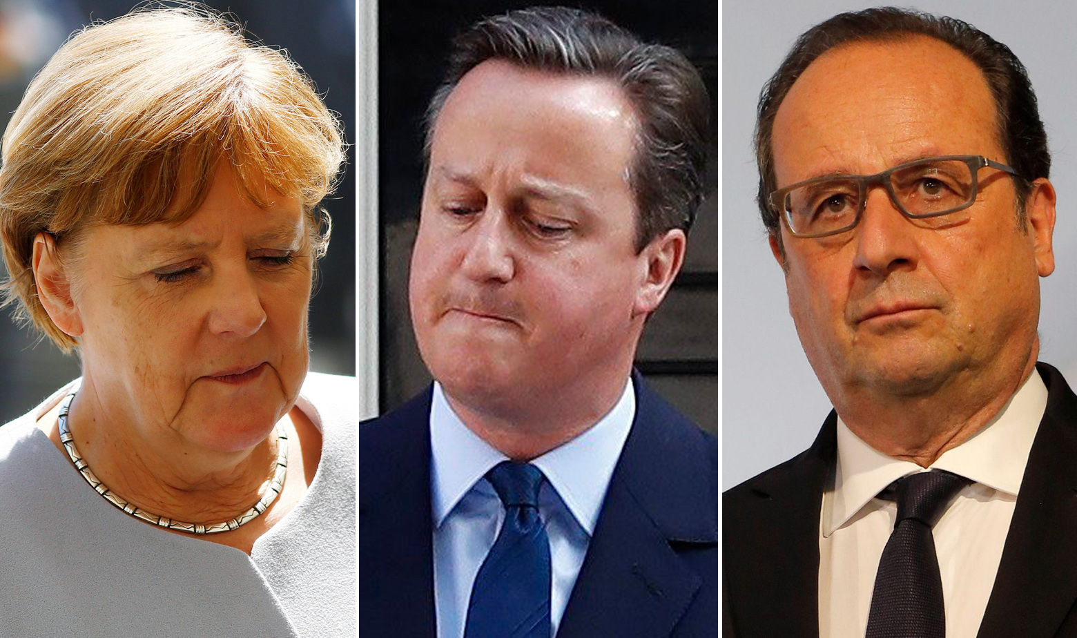 Francois Hollande, David Cameron, Angela Merkel