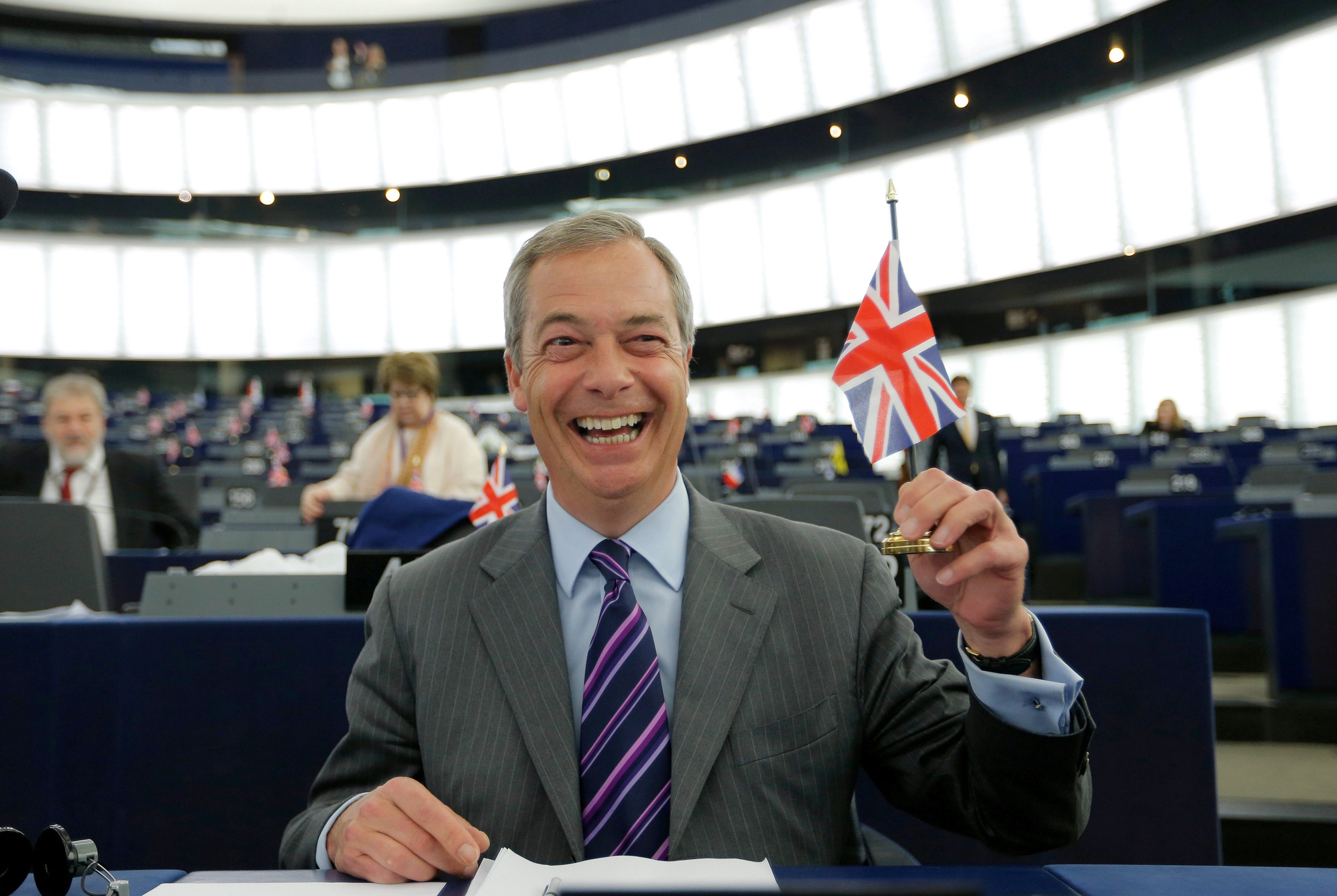 Nigel Farage u zgradi EP-a u Strasbourgu