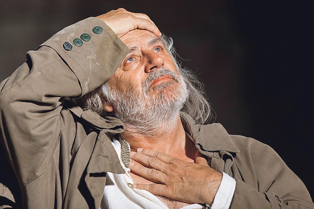 Rade Šerbedžija u inscenaciji 'Kralja Leara'