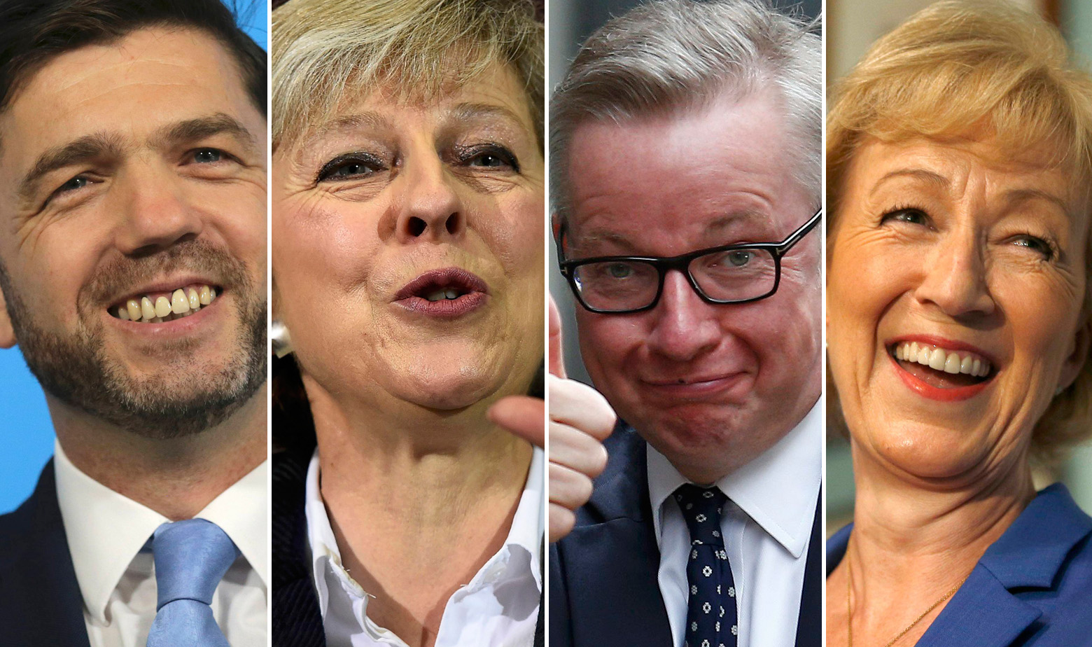 Stephen Crabb, Theresa May, Michael Gove, Andrea Leadsom