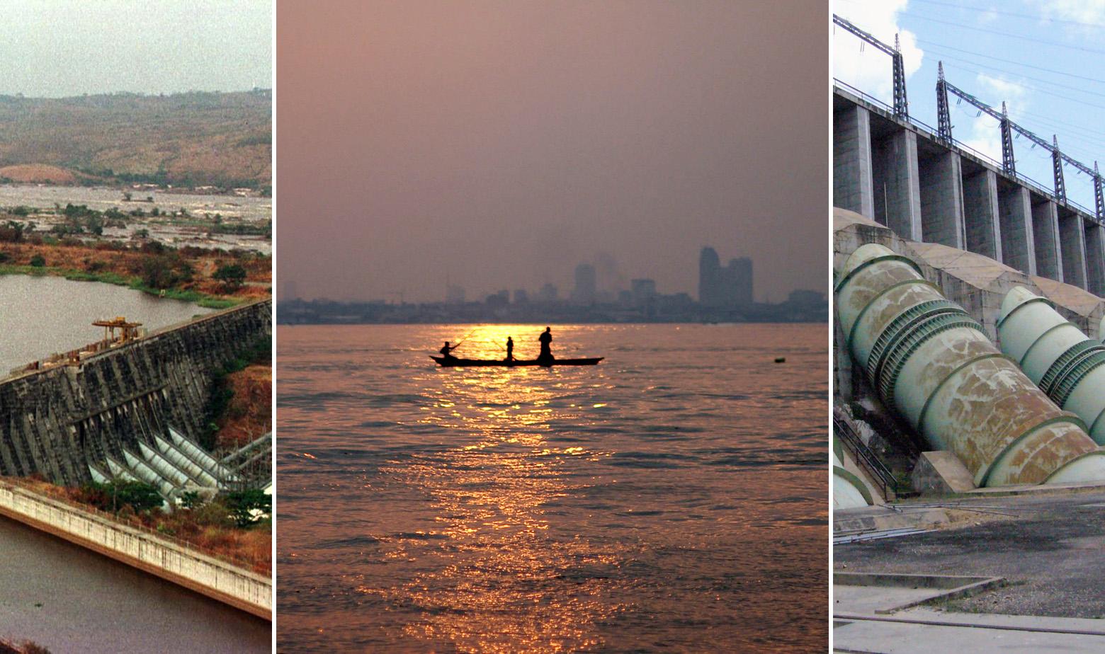 Na fotografiji: Postojeće brane na Kongu, Inga I i Inga II