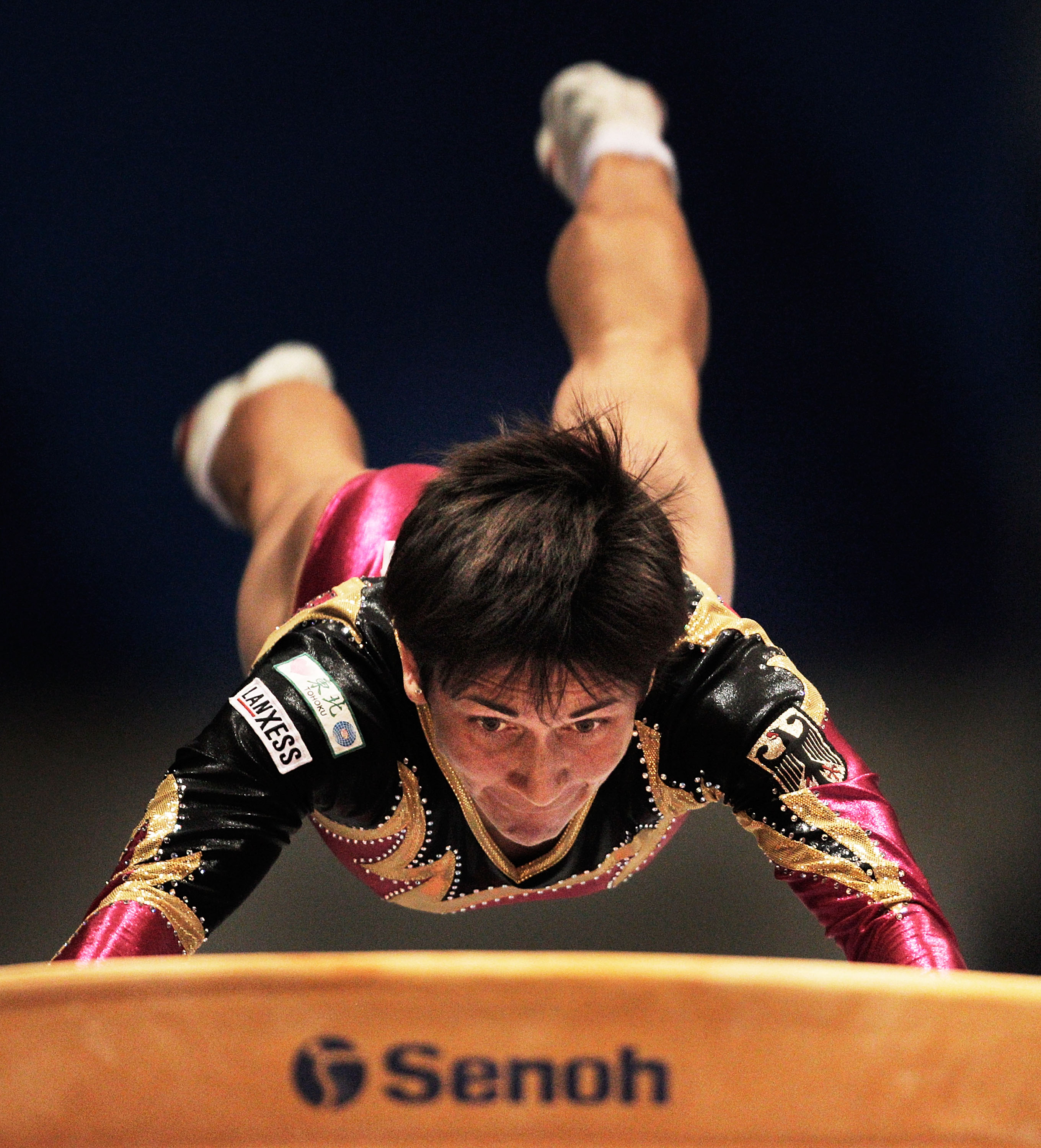 TOKYO, JAPAN - OCTOBER 15:  Oksana Chusovitina of Germany competes in the Vault apparatus final during day nine of the Artistic Gymnastics World Championships Tokyo 2011 at Tokyo Metropolitan Gymnasium on October 15, 2011 in Tokyo, Japan.  (Photo by Adam Pretty/Getty Images)